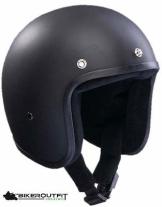 BANDIT Motorradhelm Jethelm JET schwarz-matt Chopper Helm Gr. XS-S-M-L-XL-XXL
