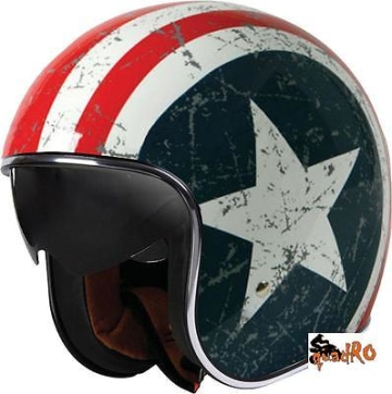 Jet Helm Retro Chopper von Origine Sprint Rebel Star mit Sonnenvisier Gr XL