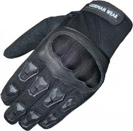 Motorradhandschuhe Motocross Sommer Motorrad Biker Textilien Handschuhe Schwarz