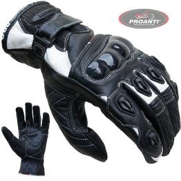 Motorradhandschuhe PROANTI® Leder kurz Motorrad Handschuhe S-XXL