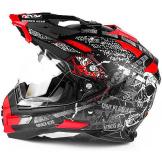 Motorradhelm Broken Head Road Pirate Enduro rot matt #6250 Cross Helm