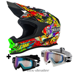 ONeal 7series Crank multi Crosshelm MX Motocross Helm S M L XL HP7 Brille