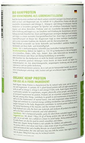 Raab Vitalfood Bio Hanfproteinpulver, 1er Pack (1 x 500 g) - Bio -