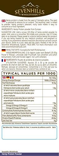 Sevenhills Wholefoods Roh Hanf-Proteinpulver 1kg -