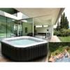 Whirlpool In-Outdoor Pool Bubble Spa Wellness Massage Heizung aufblasbar 158x158cm 4 Personen -