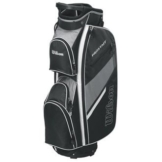 2015 Wilson Prostaff Cart Bag Mens Golf Trolley Bag 14-Way Divider Black/Grey -