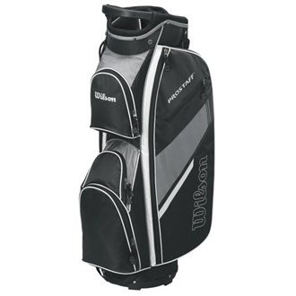 2015 Wilson Prostaff Cart Bag Mens Golf Trolley Bag 14-Way Divider Black/Grey -