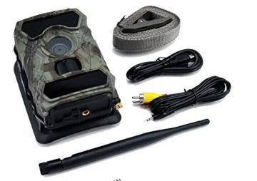 3G Überwachungskamera ( 3G GPRS GSM ) mit FOTOAPP, 3G Wildkamera Jagdkamera, 0,4s Auslösezeit, WEITWINKEL, Fotofalle, SIM-Karte inkludiert, europaweiter Empfang, 8AA Batterien und 8GB SD Karte sind dabei -