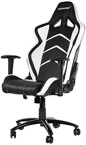 akracing gaming stuhl player wei schwarz test 2018. Black Bedroom Furniture Sets. Home Design Ideas