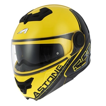 Astone Helmets rt800-line-ygl Helm Moto RT 800linetek, gelb/grau, Größe L -