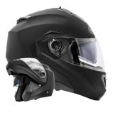 ATO-Moto Montreal Schwarz matt Größe L 59-60cm Klapphelm mit Doppelvisier System und der neusten Sicherheitsnorm ECE 2205 -