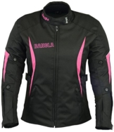 B-101 Bangla Sportliche Damen Motorrad Jacke Textil Schwarz-pink XXL -