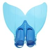 Besmall Jugendliche Flossen Trainingsflossen Schwimmen Flossen Monoflosse Taucherflossen Monofin(Blau) -