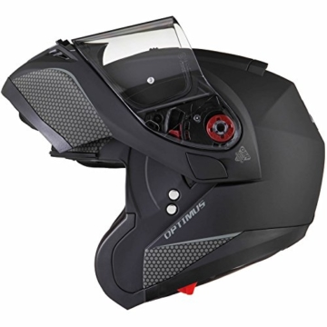 Black Optimus SV Motorrad Roller Klapphelm M Matt Black -