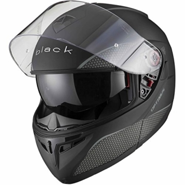 Black Optimus SV Motorrad Roller Klapphelm S Matt Black -