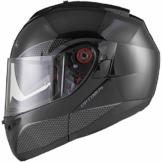 Black Optimus SV Motorrad Roller Klapphelm XL Gloss Black -