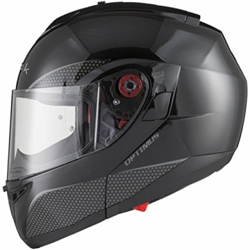 black optimus sv motorrad roller klapphelm xl gloss black. Black Bedroom Furniture Sets. Home Design Ideas