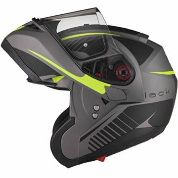 Black Optimus SV Tour Motorrad Roller Klapphelm M Matt Black Safety Yellow -