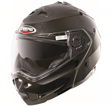 Caberg Klapphelm Duke Smart Schwarz Motorrad Helm, 30860091, Größe M (57/58 cm) -