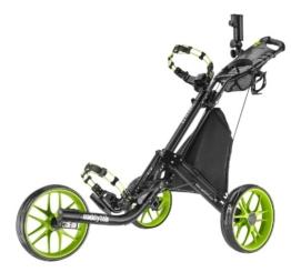 Caddytek EZ 3-Rad Golf Push Trolley Pushtrolley 3wheel schwarz Räder grün (schwarz/grün) -