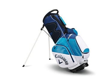 Callaway 2017 Chev Stand Bag Mens Golf Carry Bag 7-Way Divider White/Teal/Navy -