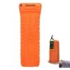 Camping Isomatte Kleines Packmaß von Hikenture™ - Ultraleichte Aufblasbare Isomatte mit Kissen - Sleeping Pad Luftmatratze für Camping, Reise, Outdoor, Wandern, Strand (Orange) -