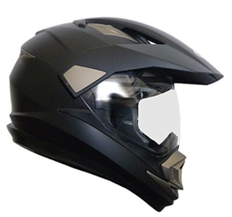 Crosshelm Integralhelm Helm Motorradhelm Rollerhelm RALLOX XP14A schwarz/matt (S, M, L, XL, XXL) Größe XL -