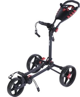 Fast Fold Flat Fold Golf Trolley - 3 Rad - Klappbar (Schwarz) -