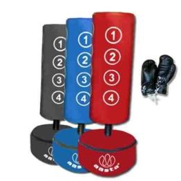 Freistehender Boxsack für Kinder mit Handschuhen Blau blau -