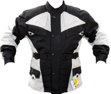 German-Wear Motorradjacke, Schwarz/Hellgrau, XL -