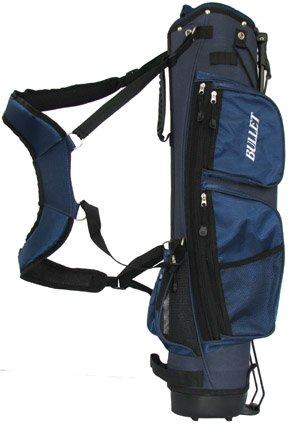 Golf Tragetasche Pancelbag für 6 Schläger Halbsatztasche in BLAU mit Schutzkappe und Schultergurt. -
