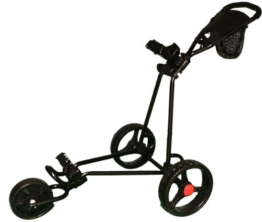 Golf-Trolley, 3 Räder, Schwarz -