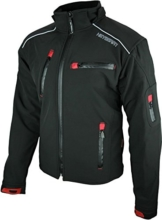 Heyberry Soft Shell Motorradjacke Textil Schwarz Gr. L -