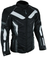 Heyberry Touren Motorrad Jacke Motorradjacke Textil schwarz grau Gr.L -