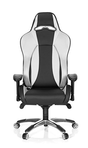 hjh office 727100 wingman ii gaming kunstleder schwarz silber test 2018. Black Bedroom Furniture Sets. Home Design Ideas