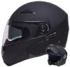 Klapphelm Integralhelm Helm Motorradhelm RALLOX 109 schwarz/matt mit Sonnenblende (S, M, L, XL) Größe L -