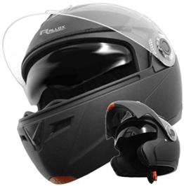 Klapphelm Integralhelm Helm Motorradhelm RALLOX 910 schwarz/matt mit Sonnenblende (XS, S, M, L, XL) Größe S -