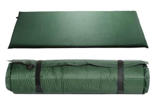 kronenburg isomatte selbstaufblasend 200x66x10 cm in gr n. Black Bedroom Furniture Sets. Home Design Ideas