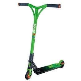 MAXOfit® Deluxe Stuntscooter Greenline bis 100 kg, sehr robust mit ABEC 9 Kugellagern, 4-fach verschraubt, 63961 -
