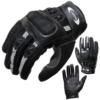 Motorradhandschuhe PROANTI® Motorrad Handschuhe Sommer (Gr. XS - XXL, schwarz, kurz) - L -