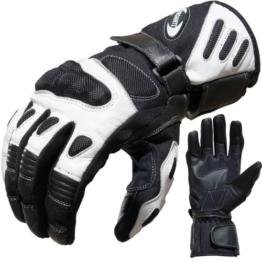 Motorradhandschuhe Summer PROANTI® Motorrad Handschuhe (Gr. M - XXL, Weiß) -