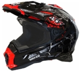 Motorradhelm MX Enduro Quad Helm Road Pirate schwarz rot Gr. XL -