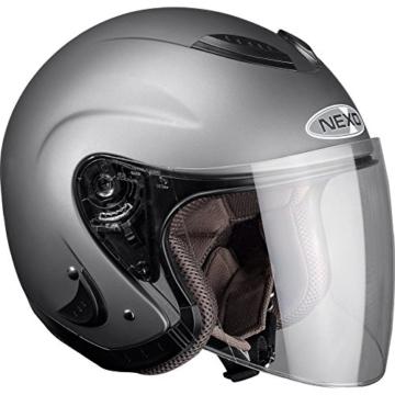 Motorradhelm Nexo Jethelm Travel Matt Titanium XXL -