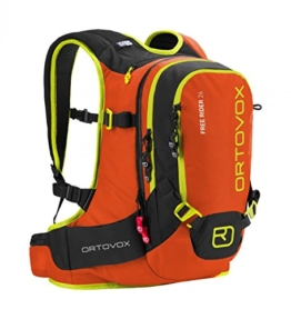 Ortovox Unisex Lawinenrucksack Free Rider, Crazy Orange, 55 x 27 x 20 cm, 26 L, 4674200007 -