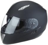 Protectwear H520-ES-XL Motorradhelm,Integralhelm mit Integrierter Sonnenblende, Größe XL, Schwarz-Matt -
