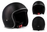 REBEL R2-MONO M-BLACK - Jet-Helm Retro Motorrad-Helm Roller-Helm Vespa-Helm Scooter-Helm Chopper Vintage Mofa Cruiser Pilot Bobber Biker Helmet , inkl. Stofftragetasche - FIBERGLAS - Extra KLEIN & LEICHT - 3 Helm-Schalen - PERFECT-FIT , MATT-SCHWARZ -