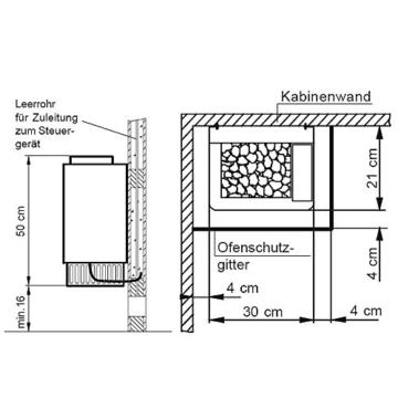 Saunaofen-Set BASIC-plus, finnischer Saunaofen 9 kW mit Saunasteuerung inkl. Vorwahl Uhr, Made in Germany und Original Diabas Saunasteine von ARTVION -