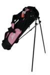 """schwarz pink PENN 6,5"""" Golfbag 4 Fächer Golftasche Standbag Golf Bag Damen Herren rosa 25680 -"""