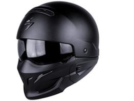Scorpion Motorrad-Helm Exo-Combat, matt Schwarz, XXL -