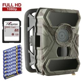 SecaCam Raptor - Full HD Tag- / Nachtsicht, kabellose getarnte Outdoor Überwachungskamera Wildkamera – 12 MP / 0,4 Sekunden Auslösezeit / Bewegungsmelder -